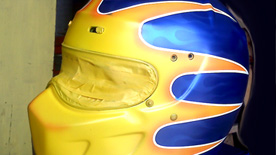 Custom painted racing helmets